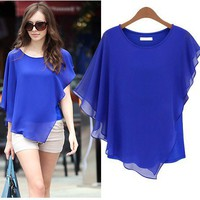 SUMMER CHIC BATWING BLOUSE