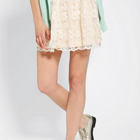 Urban Outfitters - Pins And Needles Floral Embroidered Mini Skirt