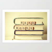 Read Books Art Print by Olivia Joy StClaire
