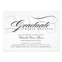 5 x 7 Elegant Graduate | Graduation Party Invite from Zazzle.com