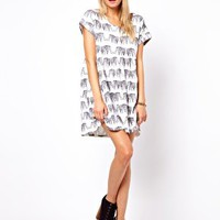 ASOS Smock Dress In Elephant Print at asos.com