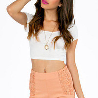 Cutesy Crochet Pocket Shorts $32
