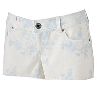 SO Floral Frayed Shortie Shorts - Juniors