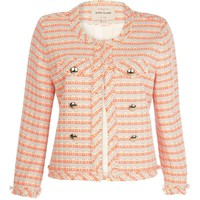 Pink and orange tweed jacket