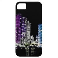 "iPhone 5 case ""night in the city"" from Zazzle.com"