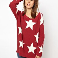 Hilfiger Denim Large Star Jumper at asos.com