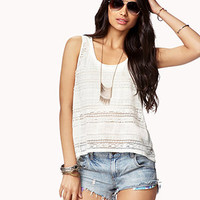 Semi-Sheer Floral Lace Tank | FOREVER 21 - 2042854948