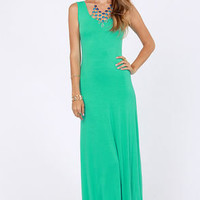Sing A-long Teal Maxi Dress