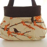 Sparrows Pleated Bag by atouchofstardust on Etsy