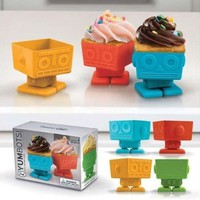 Fred & Friends Yumbots Robot Cupcake Mold:Amazon:Kitchen & Dining