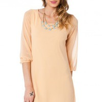 Daeva Dress in Peach - ShopSosie.com