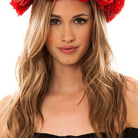 Harlett Hair Crown Rose