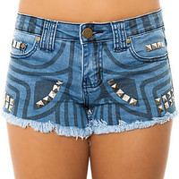 Reverse The Tribal Print Stud Shorts : Karmaloop.com - Global Concrete Culture