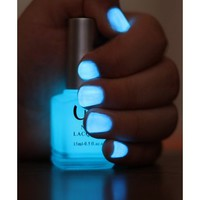 QT Glow In The Dark Neon Nail Lacquer Nail Polish Hot Blue 0.5 Oz / 15ml Made In USA:Amazon:Beauty