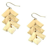 Gold Chevron Dangle Earrings