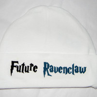Harry Potter Baby Hat. Future Ravenclaw Harry Potter Inspired Beanie Hat. White. One Size Fits Most.