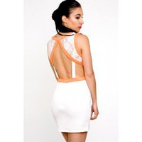Neon Cut Out Dress- $68