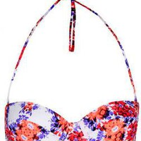 White Floral Bikini Top - Swimwear - Clothing - Topshop USA