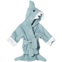 Baby Aspen &quot;Let The Fin Begin&quot; Terry Shark Robe, Blue, 0-6 Months