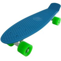 Bl-gn Blank Deluxe Complete Plastic Skateboard Blue Board with Expedited Shipping : Amazon.com : Sports & Outdoors