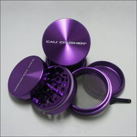 Med. Authentic Cali Crusher® Ultra Premium Luxury Herb Grinder 4 Piece PURPLE (cc-6-P)