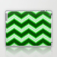 Chevron Doodle Laptop & iPad Skin by Alice Gosling