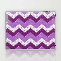 Chevron Plum Laptop & iPad Skin by Alice Gosling
