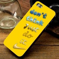 Nike Just Do it Yellow For Apple Phone, IPhone 4/4S Case, IPhone 5 Case, Cover Plastic