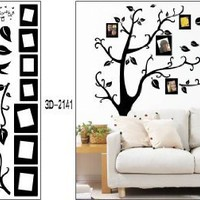 Black Photo Picture Frame Tree Vine Branch Removable Wall Decor Decal Stickers:Amazon:Everything Else
