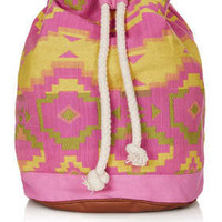 Neon Aztec Duffle Backpack
