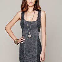 Free People Washed French Terry Lace Bodycon