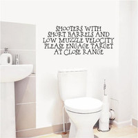 Shooters with Short Barrels - Bathroom - Vinyl Wall Decals