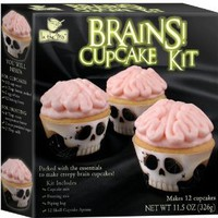 Amazon.com: Brand Castle - Halloween Brains Cupcake Kit: Toys & Games