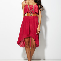 Texas Hold ?Em High-Low Dress in Wine