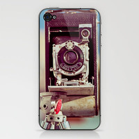 Life is like a camera iPhone & iPod Skin by Irène Sneddon