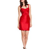 Some of you have to get in on this: Z Spoke by Zac Posen Red Ruched Bodice Dress