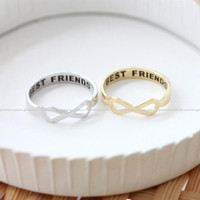 girlsluv.it - brushed INFINITY-best friends ring, 2 colors