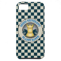 Chess University on Planet Earth Emblem iPhone 5 Cover from Zazzle.com