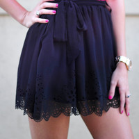 Middle Of The Night Skirt: Black | Hope's