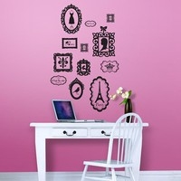 12 Piece Parisian Portrait Wall Decals Set