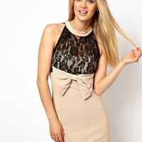 Arrogant Cat London Lace Mini Dress with High Neck at asos.com