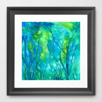 Ocean Wonder Framed Art Print by Rosie Brown