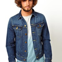 Lee Denim Jacket Rider Slim Fit Epic Blue