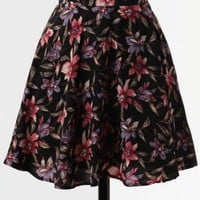 Night Song Floral Skirt