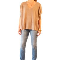 Minnie Rose Pow Wow Cashmere Sweater in Hazelnut for sale online from Carolina Boutique in Mill Valley