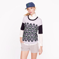 Collection short-sleeve embellished sweater - AllProducts - sale - J.Crew