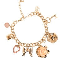 Faceted Charm Bracelet | Shop Jewelry at Wet Seal