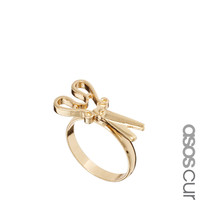 ASOS CURVE Scissors Ring