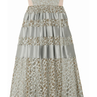 Temperley London | Satin-trimmed lace dress
