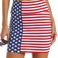 American Flag Mini Skirt: Charlotte Russe